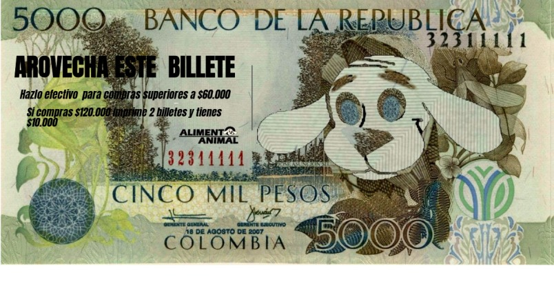 Billete Alimento ANimal